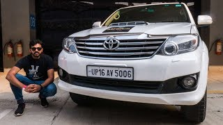Old Toyota Fortuner Review On Track | Faisal Khan