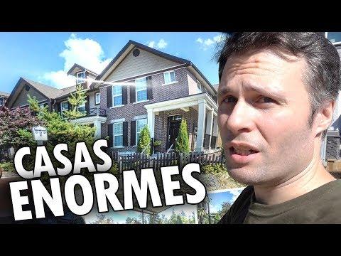 VISITANDO CASAS GRANDES e NOVAS no INTERIOR CANADENSE - OPEN HOUSE CANADÁ DIÁRIO #3