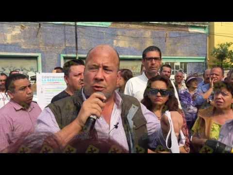 Alfaro cancela inauguración de obra por quejas y peticiones de vecinos