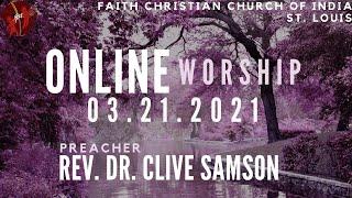 FCCIndia Live Worship 03/21/2021   FCCI St. Louis