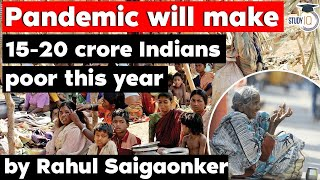 Covid 19 to make 15-20 crore people in India poor says Ambedkar University - Economy Current Affairs