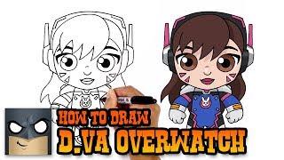 How to Draw D.Va | Overwatch (Art Tutorial)