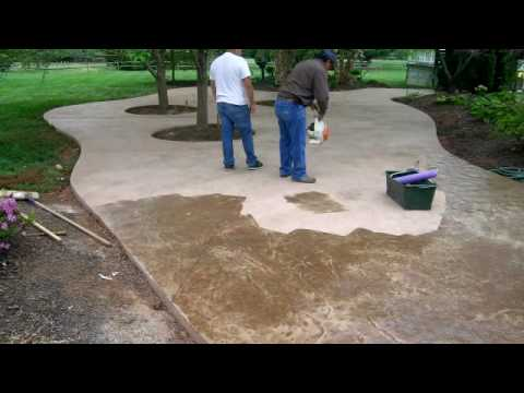 Amazing Stamped Concrete Patio Time Lapse By ConcreteVa   YouTube