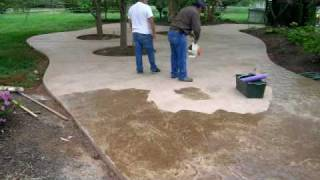Stamped Concrete Patio Time Lapse By Concreteva