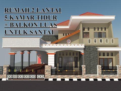desain #22 desain rumah minimalis 2 lantai dengan 5 kamar