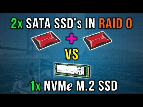 2x SATA SSD's in RAID 0 vs 1x NVMe M.2 SSD | Games Loading Test