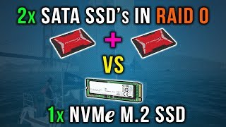 2x SATA SSD ' s in RAID-0 vs 1x NVMe M. 2 SSD | Spellen Laden Test