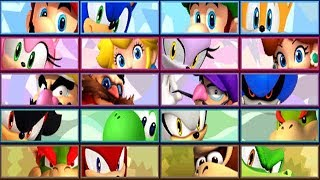 Mario & Sonic at the London 2012 Olympic Games (3DS) - All Characters