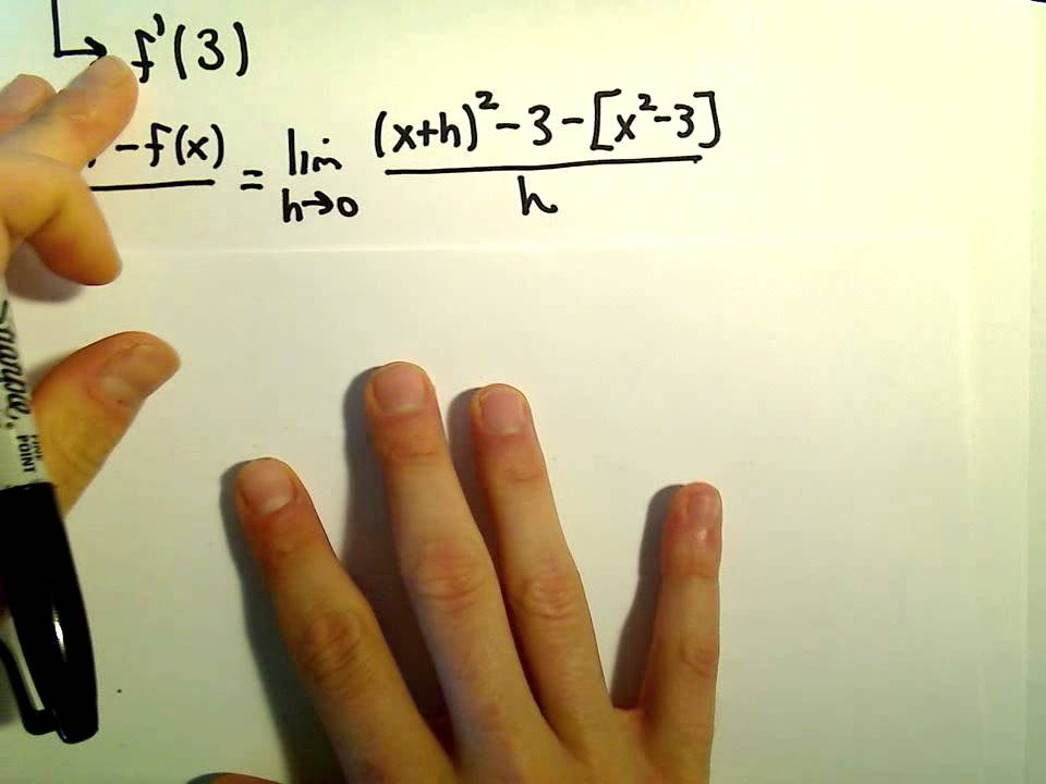 Equation Of Tangent Line Using Definition Of Derivative Youtube