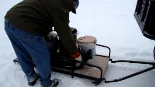 Atv Or Snowmobile Pull Behind Ice Fishing Utility Dogsled