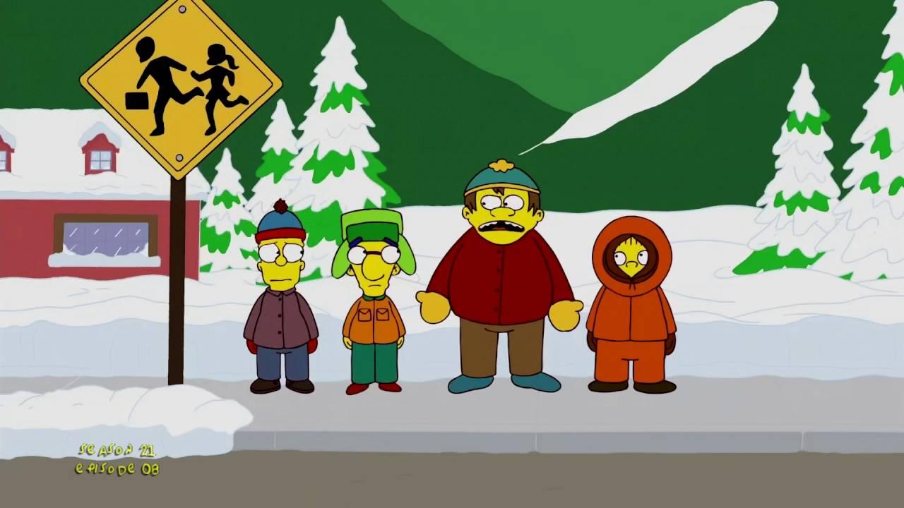 Resultado de imagen de south park the simpsons