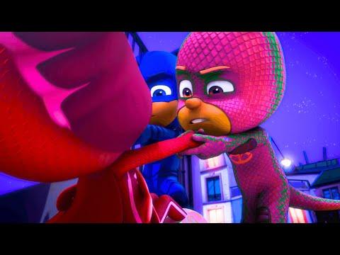 PJ Masks Funny Colors - Gekko's Gone PINK!!!! - Kids Videos