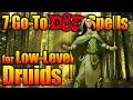 D&D Druid Tier 1 Go To Spells