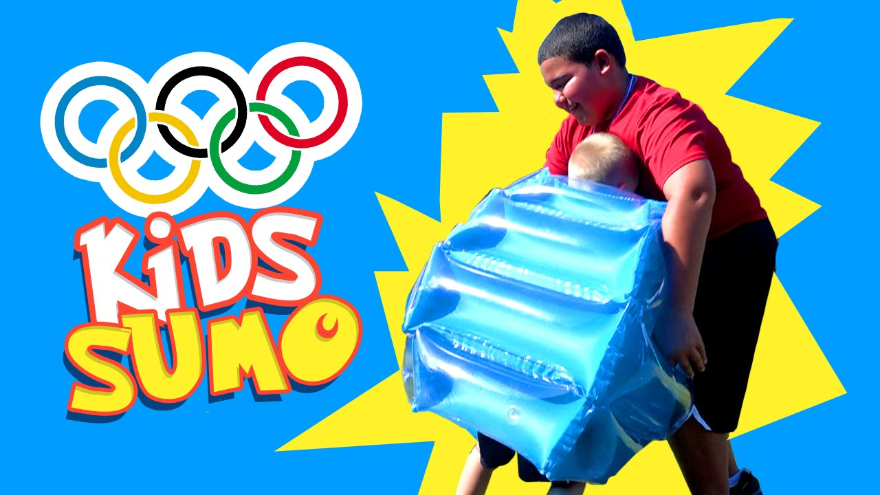 kids olympics games sumo wrestling event with inflatable toys