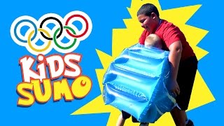 KIDS OLYMPICS Games - Sumo Wrestling Event with Inflatable Toys & Gold Medal Ceremony by KID CITY