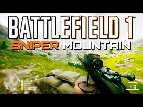 Battlefield 1: Sniper Mountain (PS4 Sniping Gameplay)