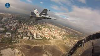 F-18's flying over Madrid