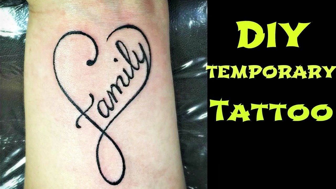 diy temporary tattoo waterproof