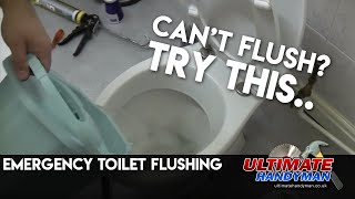 Emergency toilet flushing