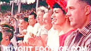 HD Stock Footage 1950's Lifestyle Sports and Pageantry