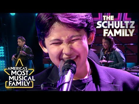 """The Schultz Family """"Talk Box"""" Performance of """"Finesse"""" by Bruno Mars   America's Most Musical Family"""