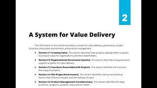 26- SECTION 2 - A SYSTEM FOR VALUE DELIVERY (STANDARD)