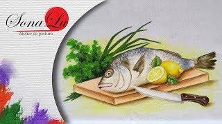 Peixe, Tábua e Faca em Tecido