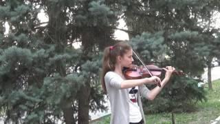 Ольга играет на скрипке Волжский