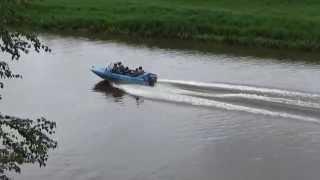 отдых на моторной лодке видео