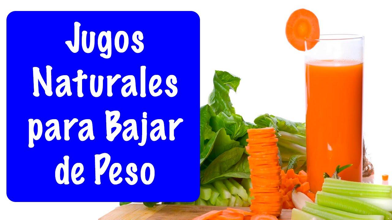 JUGOS NATURALES - BATIDOS NATURALES PARA BAJAR DE PESO