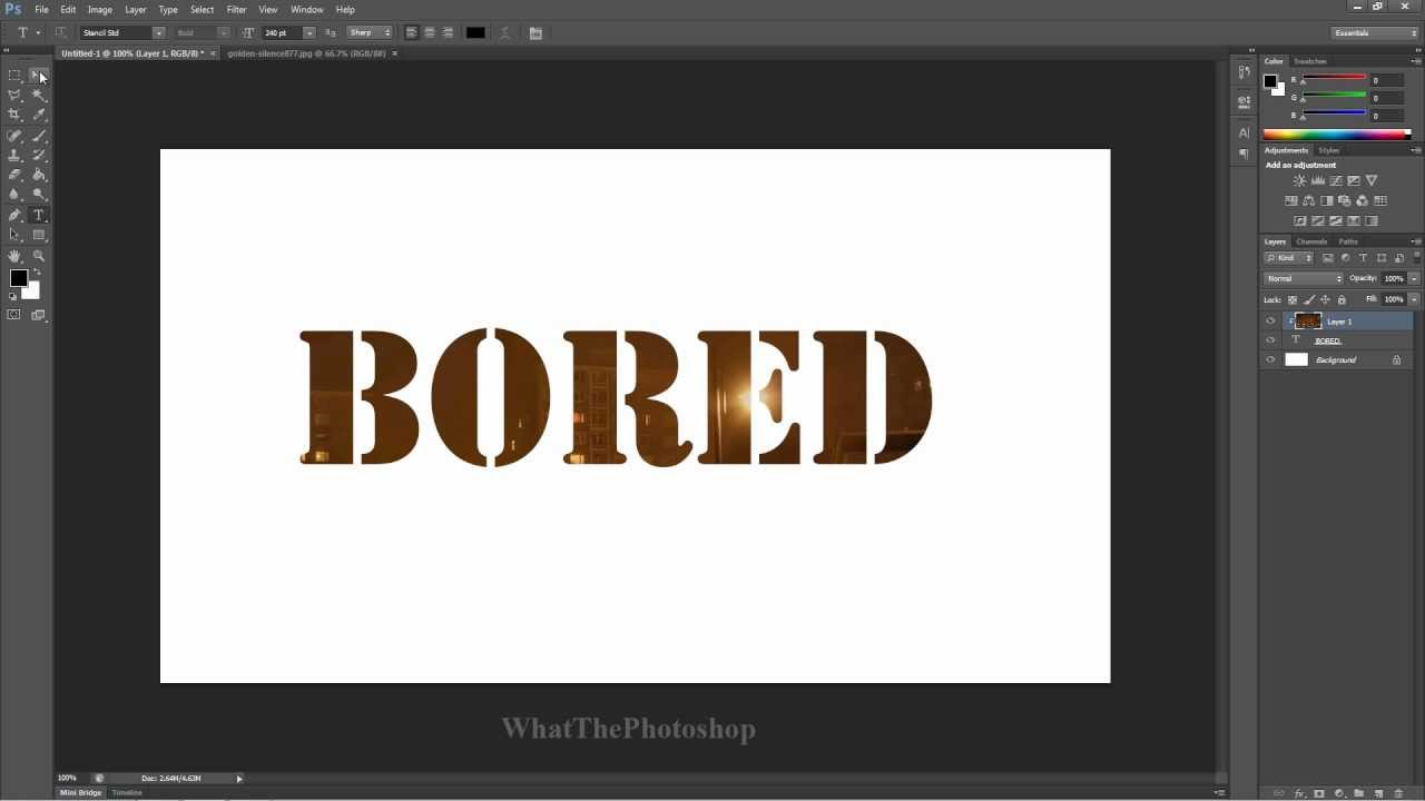 How To Put A Picture In Text In Photoshop Adobe Photoshop
