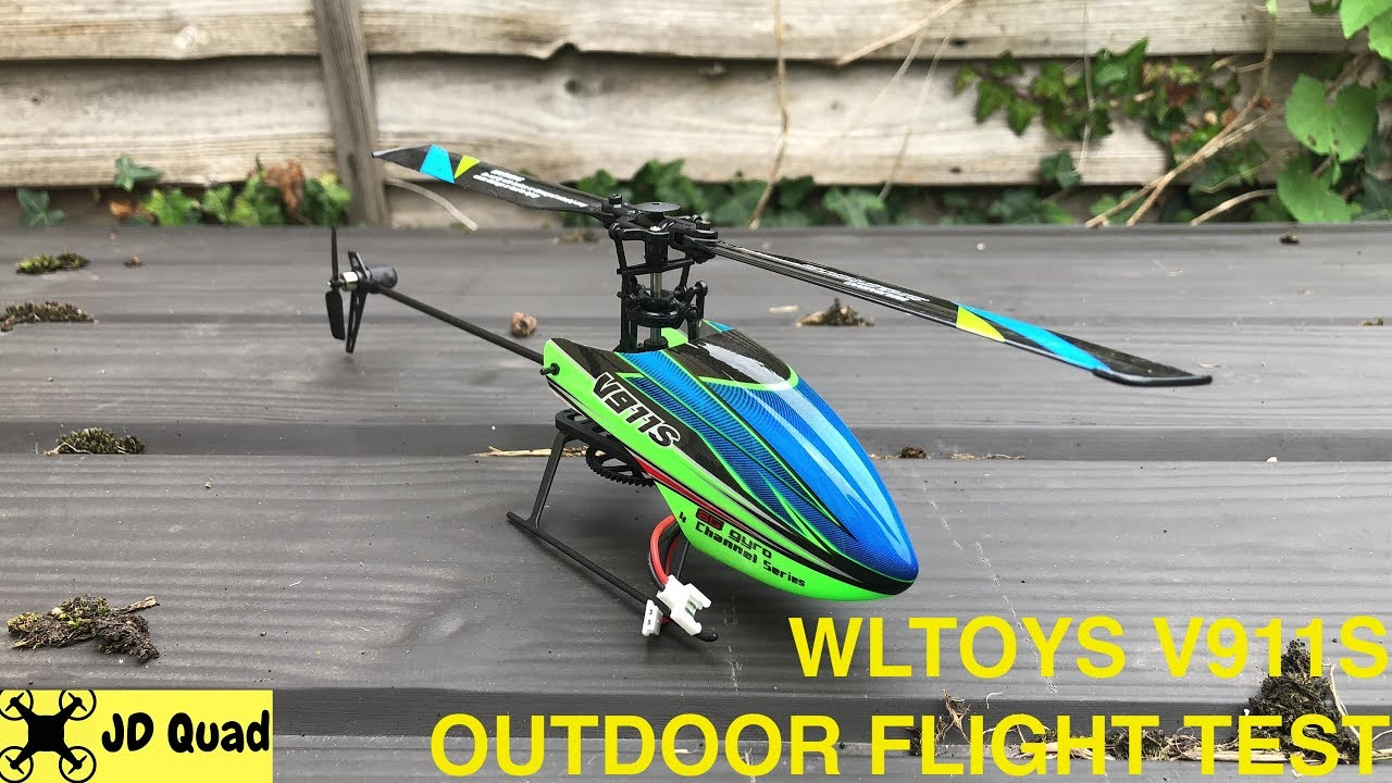 WLToys V911S 4 Channel Helicopter Outdoor Flight Test Video