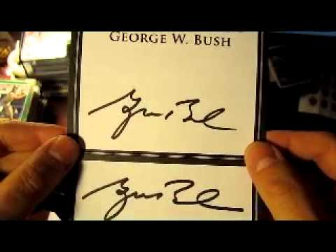 Ttm Autograph Return President George W Bush Youtube