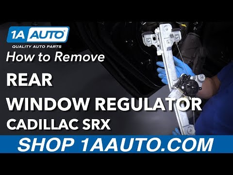 How to Remove Replace Window Regulator 2013 Cadillac SRX