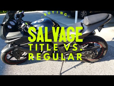 Buying A Salvage Title Motorcycle Vs. Regular Title  Motorcycle