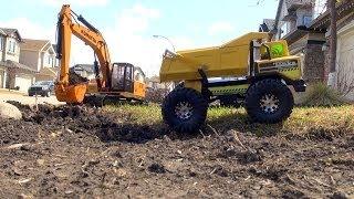 RC ADVENTURES - Earth Digger 4200XL Excavator, RC Tonka Dump Truck, Graupner Liebherr Loader