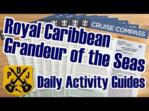 Royal Caribbean Cruise Compass - Daily Event & Activity Schedule - Grandeur Of The Seas - ParoDeeJay