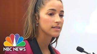 USA Olympic Gold Medalist Aly Raisman To Larry Nassar: 'You Are Nothing' | NBC News