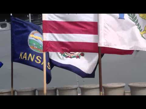 All 50 state flags at the USS Missouri