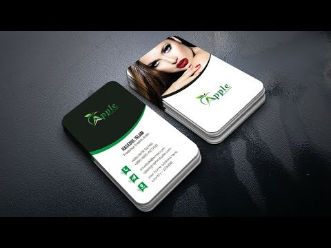Vertical Business Card Design - Photoshop Tutorial - YouTube