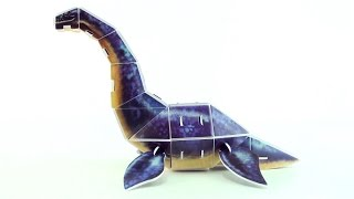 Mosasaurus DINO 3D puzzle - Dinosaur model built in 3D  - Build a Mosasaurus for kids