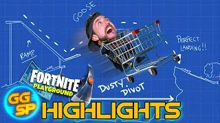 Goose Jumps Over Dusty Divot In A Shopping Trolley! | Stream Highlights