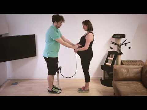 Making a baby: Pregnant bike pump time-lapse video - Emi!