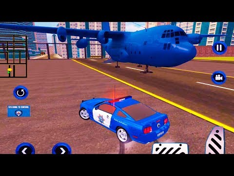 Airplane Pilot US Police Car Transporter Games (by Vital Games Production) Android Gameplay Trailer