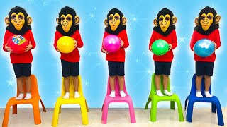 Five little monkeys (new version) | 동요와 어린이 노래 | 어린이 교육 | Nikki Kids Song