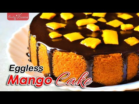 Eggless Mango Cake Recipe | Mango Cake Recipe | आम का केक | How To Make Mango Rava Cake At Home