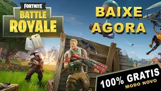 "FORTNITE BATTLE ROYALE: NOVO MODO ""PUBG"" - JOGO 100% GRATIS - GAMEPLAY PT BR (Free To Play)"