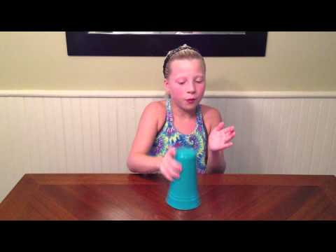 9 year old girl singing the cup song