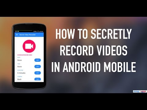 Record anyone's video secretly without touching the phone