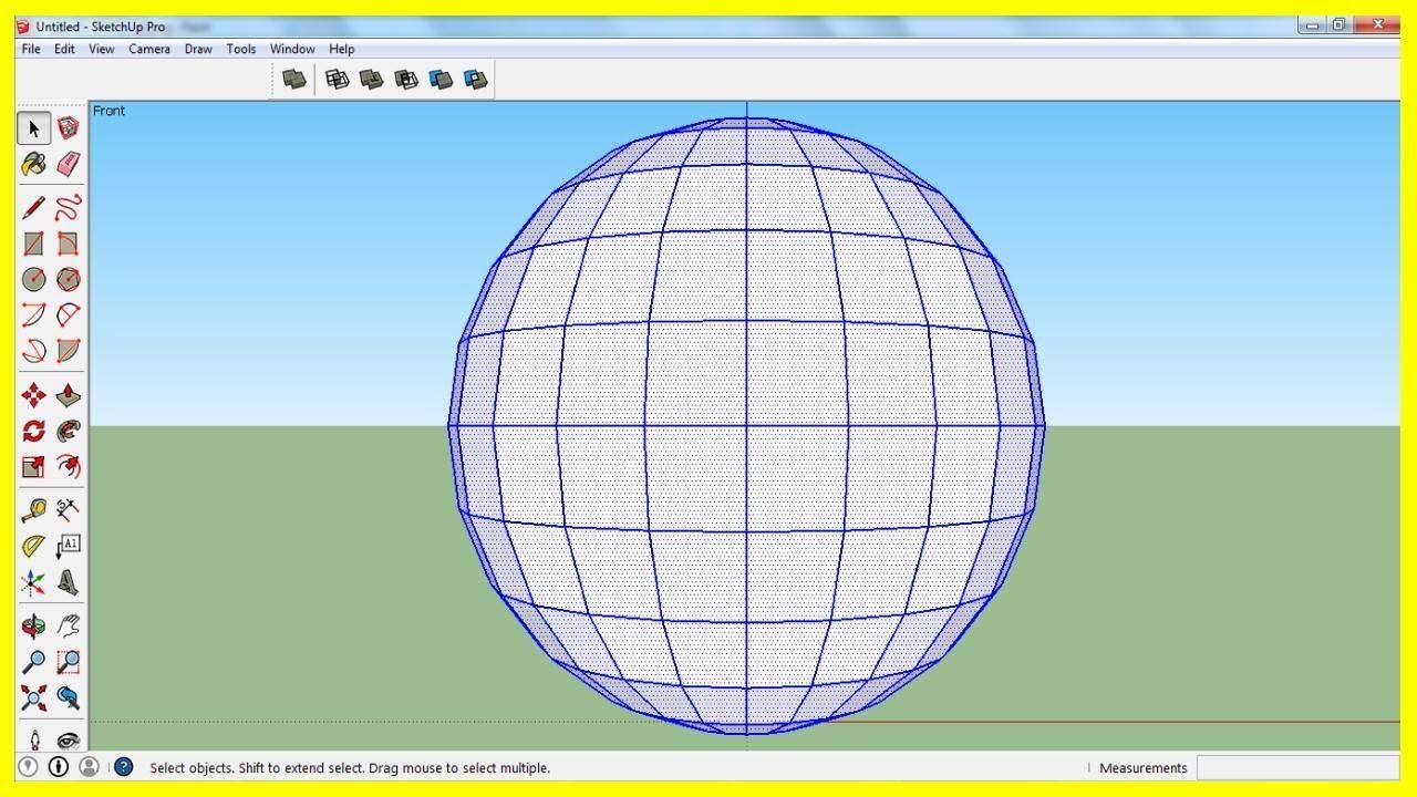 Sketchup: hướng dẫn vẽ hình cầu